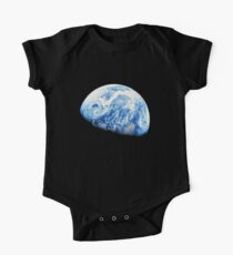EARTH, PLANET, SPACE, Blue planet, Earthrise, Apollo 8, 1968 One Piece - Short Sleeve