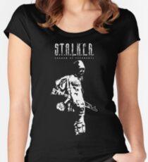 Stalker SOC White Women's Fitted Scoop T-Shirt