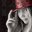 Girl in a Pink Hat by micklyn