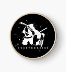 Dusty Hobbies Logo | White Clock
