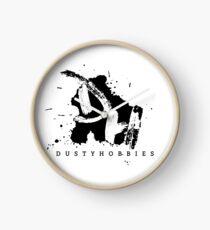 Dusty Hobbies Logo | Black Clock