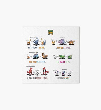 Dinomals Cheat Sheet! Art Board Print
