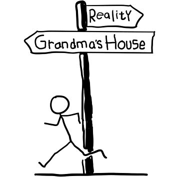 "Funny ""Grandma's House vs Reality"" Signpost Themed Design by EireShirts"