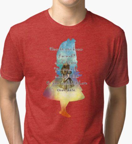 Wonderland - Alice In Wonderland Quote Camiseta de tejido mixto