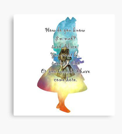Wonderland - Alice In Wonderland Quote Lienzo