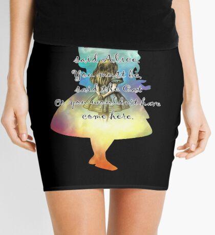 Wonderland - Alice In Wonderland Quote Minifalda