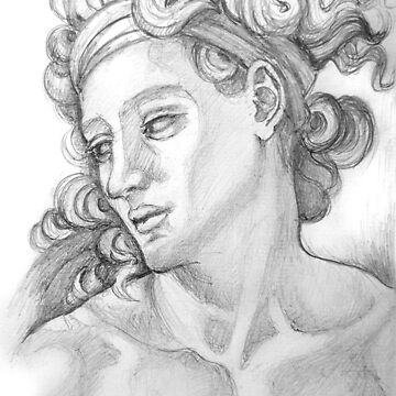 Ignudi sketch series. After Michael Angelo. Sistine Chapel. by terezadelpilar