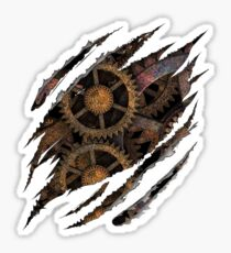 Steampunk Vintage Gears Cogs and Wheels In Me Sticker