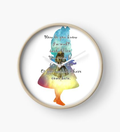 Wonderland - Alice In Wonderland Quote Reloj