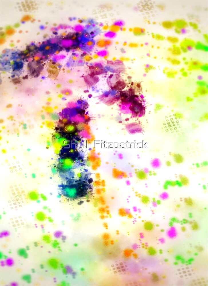 Organized Chaos Colorful Abstract Paint Splatter By Shelli