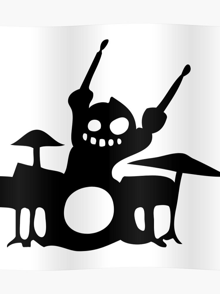 Batteur Drum Cartoon Drummer Music BatteriePoster wZOPnN80kX