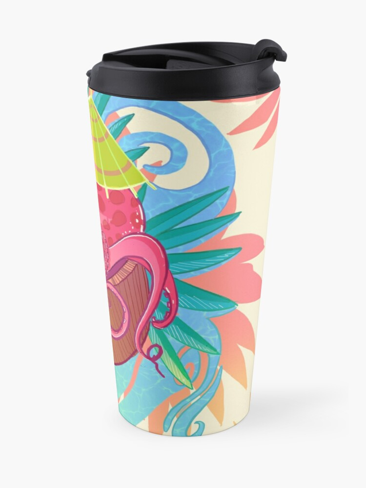 Alternate view of Octopus on the Beach Travel Mug