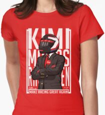 Red, White & Bwoah: Kimi Raikkonen for President Women's Fitted T-Shirt