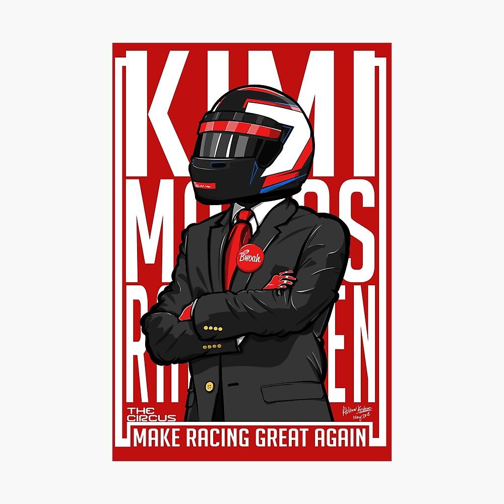 Rot, Weiß & Bwoah: Kimi Räikkönen für den Präsidenten Fotodruck