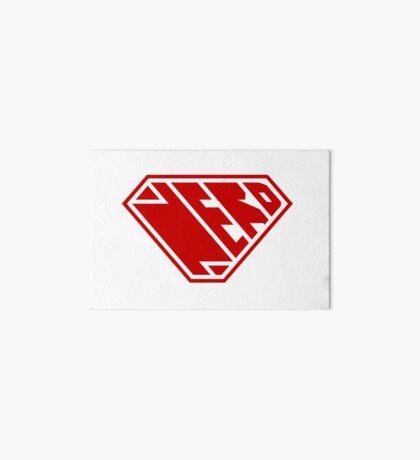 Nerd SuperEmpowered (Red) Art Board Print