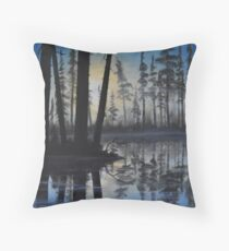 """""""Alone at Misty Creek"""" Throw Pillow"""