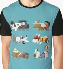 Bunnies Dream Jobs Graphic T-Shirt