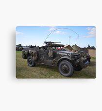 Military vehicle Canvas Print