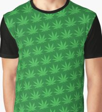 Pot Leaf Pattern Graphic T-Shirt