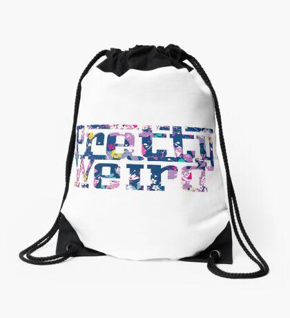 Pretty Weird Logo  Drawstring Bag
