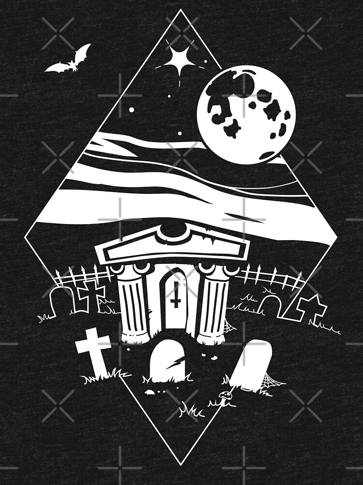 Spooky Mausoleum under the Full Moon by forge22