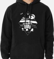 Spooky Mausoleum under the Full Moon Pullover Hoodie