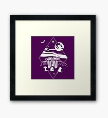 Spooky Mausoleum under the Full Moon Framed Print