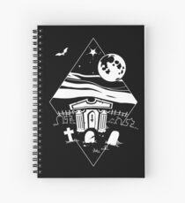 Spooky Mausoleum under the Full Moon Spiral Notebook