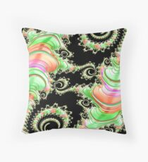 Candyland Fractal Abstract Landscape  Throw Pillow