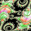 Candyland Fractal Abstract Landscape  by Shelli Fitzpatrick