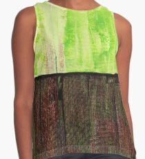 Green Abstract Design By Rafi Perez Sleeveless Top