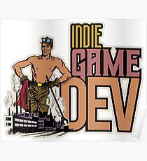 Indie Gamedev Retro Poster