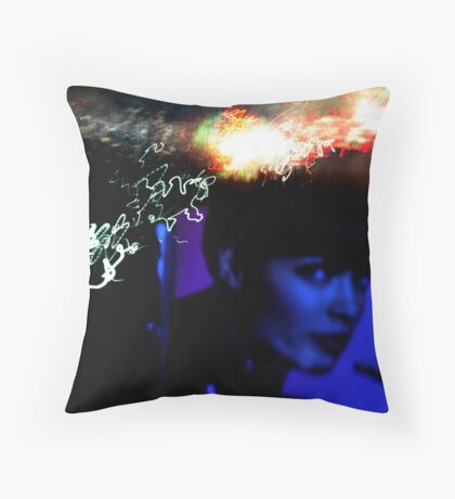 Exposed Lady Throw Pillow