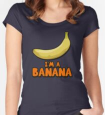 I'M A BANANA! Women's Fitted Scoop T-Shirt