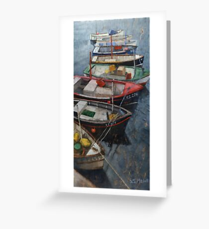 Boats of Newlyn Greeting Card