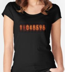 Steins Gate Divergence Meter Women's Fitted Scoop T-Shirt