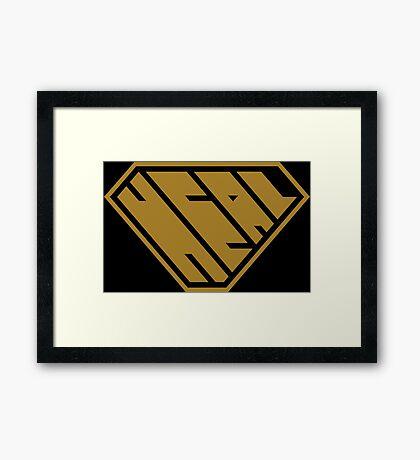 Heal SuperEmpowered (Gold) Framed Art Print