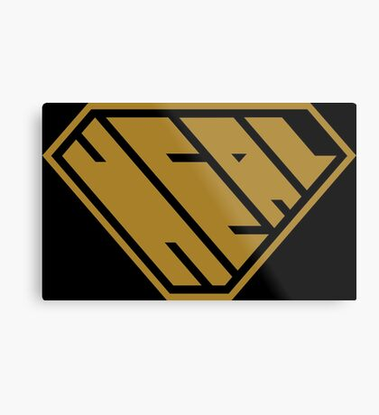 Heal SuperEmpowered (Gold) Metal Print