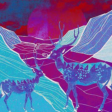 Desert deers2  by Design4uStudio