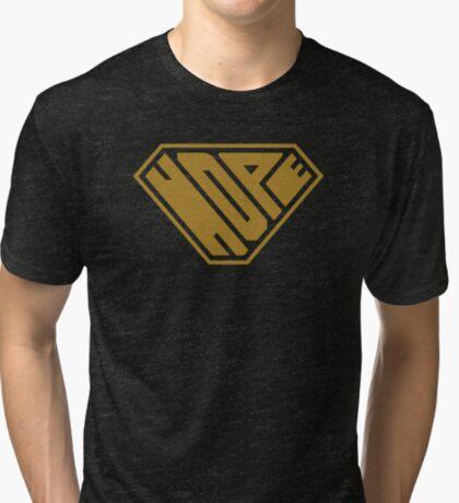 Hope SuperEmpowered (Gold) Tri-blend T-Shirt