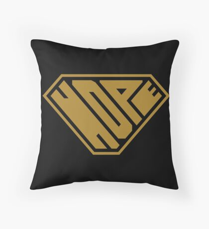 Hope SuperEmpowered (Gold) Throw Pillow