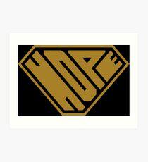 Hope SuperEmpowered (Gold) Art Print