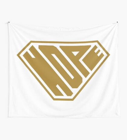 Hope SuperEmpowered (Gold) Wall Tapestry