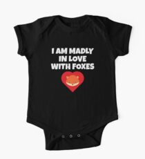 Madly Love Foxes Cute Fox Lover Heart T-Shirt One Piece - Short Sleeve