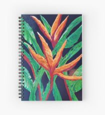 Bird of Paradise blooming at midnight Spiral Notebook