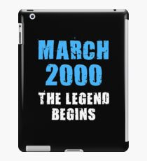 March 2000 Legend begins 18th birthday Shirt Tank Graphic T-shirt Phone Case Laptop Decal Mug Tablet Case and Bag iPad Case/Skin