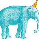 Party Animal Elephant by lizzydeestudio