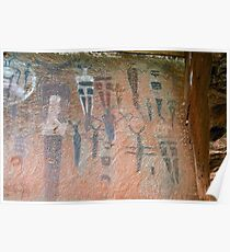 Courthouse Wash Pictographs Poster