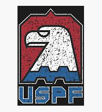 USPF United States Police Force (large distressed logo) Photographic Print