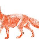 Party Animal Fox by lizzydeestudio